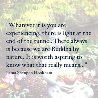 Buddha by nature, a teaching by Lama Shenpen to a student at a low point in their life