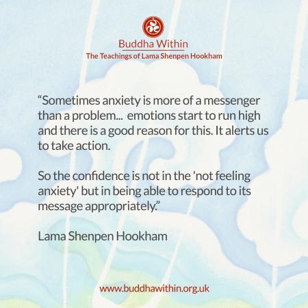 Buddhism meditation anxiety lama Shenpen hookham