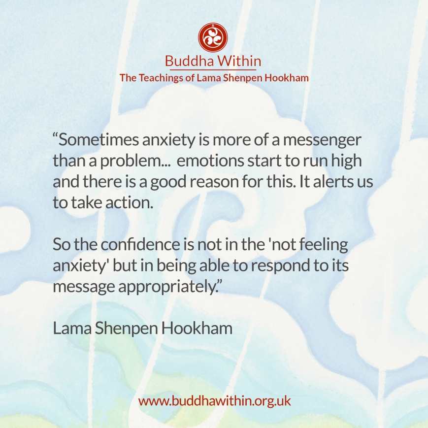 Buddhism meditation anxiety lama Shenpen hookham