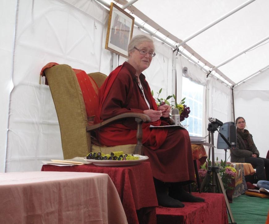 Lama Shenpen Hookham Female British Tibetan Buddhist Teacher