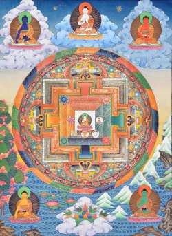 5 Buddha families Mandala
